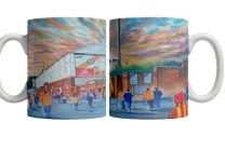 Firhill Stadium 'Going to the Match' Fine Art Ceramic Mug - Partick Thistle Football Club