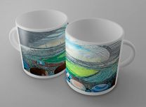 Etihad Stadium Fine Art Ceramic Mug - Manchester City Football Club