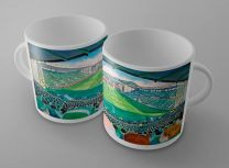 Easter Road Stadium Fine Art Ceramic Mug - Hibernian Football Club