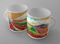 City Ground Stadium Fine Art Ceramic Mug - Nottingham Forest Football Club
