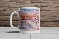 Tynecastle Park Stadium 'Going to the Match' Fine Art Ceramic Mug - Heart of Midlothian Football Club
