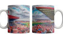 Pittodrie Stadium Fine Art Ceramic Mug - Aberdeen Football Club