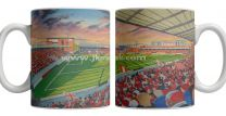 Brisbane Road Stadium Fine Art Ceramic Mug Leyton Orient Football Club