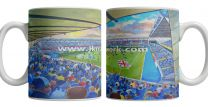 The Den Stadium Fine Art Ceramic Mug - Millwall Football Club