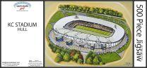 KCOM Stadia Fine Art Jigsaw Puzzle - Hull City Football Club