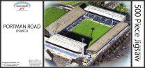 Portman Road Stadia Fine Art Jigsaw Puzzle - Ipswich Town Football Club