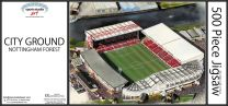City Ground Stadia Fine Art Jigsaw Puzzle - Nottingham Forest Football Club