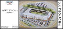 Liberty Stadia Fine Art Jigsaw Puzzle - Swansea City Football Club