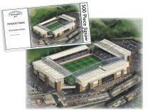 Ewood Park Stadia Fine Art Jigsaw Puzzle - Blackburn Rovers Football Club