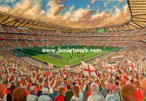 Twickenham Stadium Fine Art Print - England Rugby Union