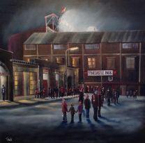 Tynecastle Park Stadium 'The Final Queue' Fine Art Box Canvas Print - Heart of Midlothian Football Club