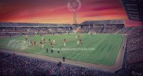 "Pittodrie Stadium Fine Art 20"" x 30"" Box Canvas Print - Aberdeen Football Club"