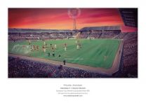 Pittodrie Stadium Fine Art A3 Print - Aberdeen Football Club