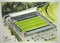 Adams Park Stadium Fine Art Original Watercolour Painting - Wycombe Wanderers Football Club