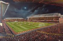 "Highbury Stadium 'Arsenal v Manchester United 1991' 20 x 30"" Box Canvas Print - Arsenal Football Club"