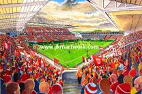 Ashton Gate Stadium Fine Art Print - Bristol City Football Club