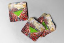 Ashton Gate Stadium Fine Art Coasters Set - Bristol City Football Club
