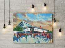 Ashton Gate Stadium 'Going to the Match' Fine Art Canvas Print - Bristol City Football Club