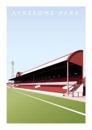 Ayresome Park Stadium Art Illustration Poster - Middlesbrough Football Club