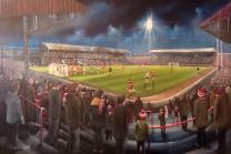 Ayresome Park Stadium Fine Art Box Canvas Print - Middlesbrough Football Club