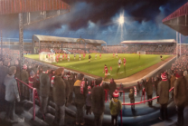 Ayresome Park Stadium Fine Art A3 Print - Middlesbrough Football Club