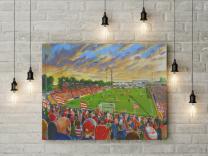 Belle Vue Stadium Fine Art Canvas Print - Doncaster Rovers Football Club