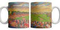 Belle Vue Stadium Fine Art Ceramic Mug - Doncaster Rovers Football Club