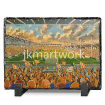 Bloomfield Road Stadium Fine Art Slate Presentation - Blackpool Football Club