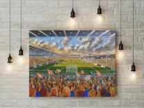 Bloomfield Road Stadium Fine Art Canvas Print - Blackpool Football Club