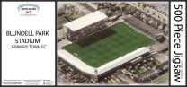 Blundell Park Stadia Fine Art Jigsaw Puzzle - Grimsby Town Football Club