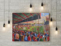 Bootham Crescent Stadium Fine Art Canvas Print - York City Football Club