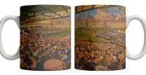 Boothferry Park Stadium Fine Art Ceramic Mug - Hull City Football Club
