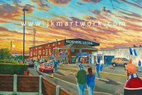 Boundary Park Stadium 'Going to the Match' Fine Art Print - Oldham Athletic Football Club