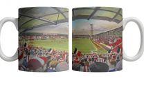 Griffin Park Stadium Fine Art Ceramic Mug - Brentford Football Club