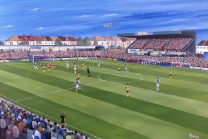 Memorial Ground Stadium Fine Art Box Canvas - Bristol Rovers Football Club