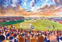 Brockville Stadium Fine Art Print - Falkirk Football Club