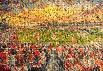 Broomfield Park Stadium Fine Art Jigsaw Puzzle - Airdrieonians Football Club