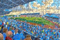 Brunton Park Stadium Fine Art Jigsaw Puzzle - Carlisle United Football Club