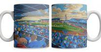 Brunton Park Stadium Fine Art Ceramic Mug - Carlisle United Football Club