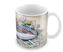 Nou Camp Stadia Fine Art Ceramic Mug - FC Barcelona