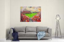 Ashton Gate Stadium Fine Art Canvas Print - Bristol City Football Club