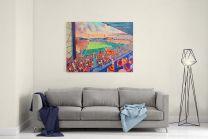 Valley Parade Stadium Fine Art Canvas Print - Bradford City Football Club