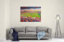 St James' Park Stadium Fine Art Canvas Print - Exeter City Football Club