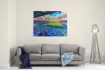 Fratton Park Stadium Fine Art Canvas Print - Portsmouth Football Club