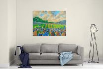 Gay Meadow Stadium Fine Art Canvas Print - Shrewsbury Town Football Club
