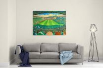 Easter Road Stadium Fine Art Canvas Print - Hibernian Football Club