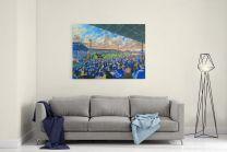 Ninian Park Stadium Fine Art Canvas Print - Cardiff City Football Club