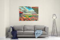 Pittodrie Stadium Fine Art Canvas Print - Aberdeen Football Club