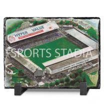 Ninian Park Stadium Fine Art Slate Presentation - Cardiff City Football Club