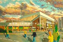 Carrow Road Stadium 'Going to the Match' Fine Art Print - Norwich City Football Club